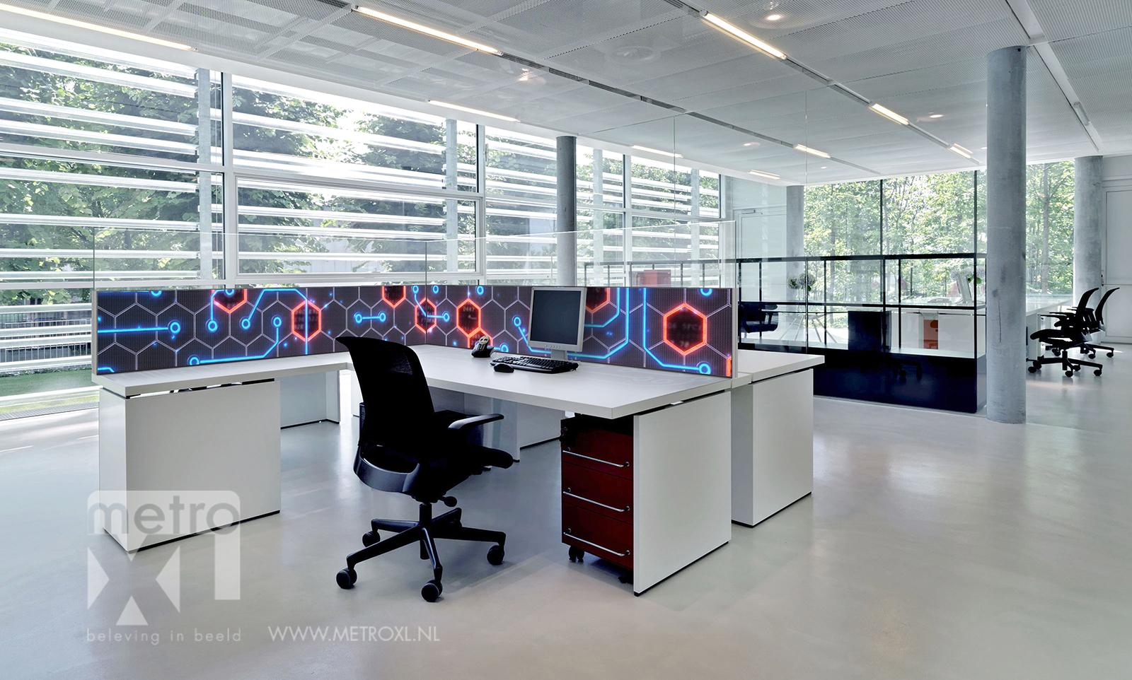 Coronascherm bureauscherm kantoor MetroXL