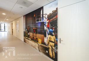 Vinywall fotowand in nieuwbouw Brandweer Waalwijk