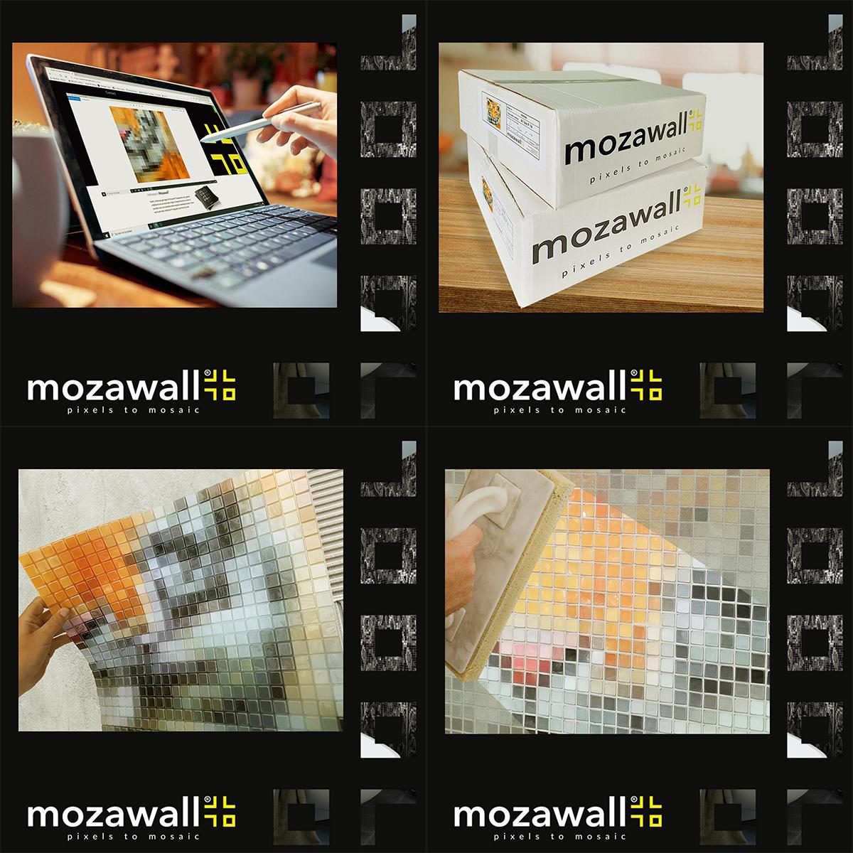 4 stappen mozawall mozaiek tegelwand